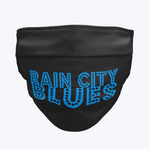 Rain City Blues Black T-Shirt Front