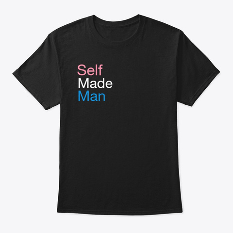 Self Made Tee Black T-Shirt Front
