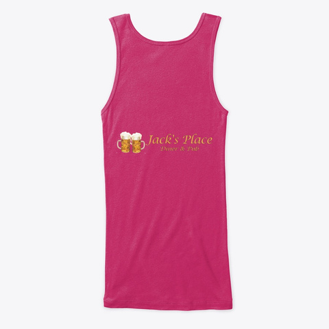 Jack's Place Tank Top Berry T-Shirt Back
