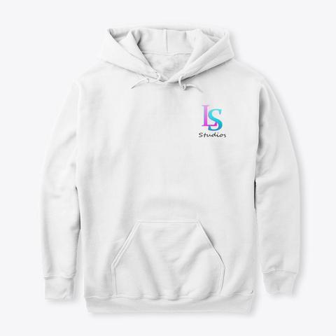 Ls Studios Logo White T-Shirt Front