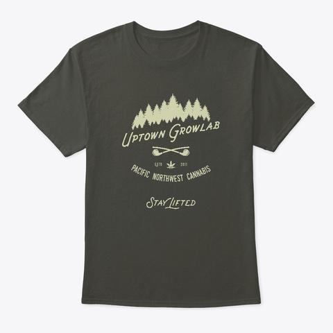 Uptown Growlab Hipster Cannabis Shirt Smoke Gray T-Shirt Front