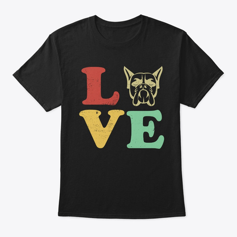 I Love My Boxer T Shirt Gifts For Dog  Black T-Shirt Front