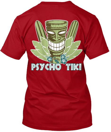 Psycho Tiki Deep Red T-Shirt Back