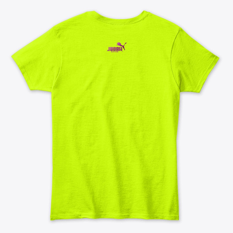 Queen Drip Judah Clothing™ Safety Green T-Shirt Back