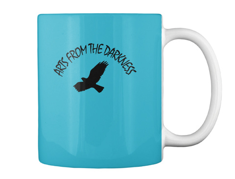 Aris From The Darkness Turquoise Mug Back