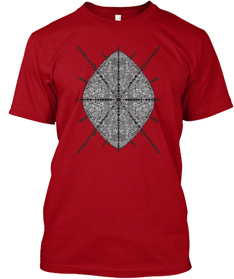 The Order Of Hours And Of Days Deep Red T-Shirt Front