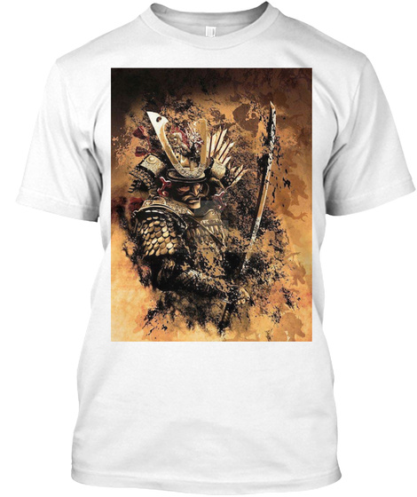 Smoke Samurai White T-Shirt Front