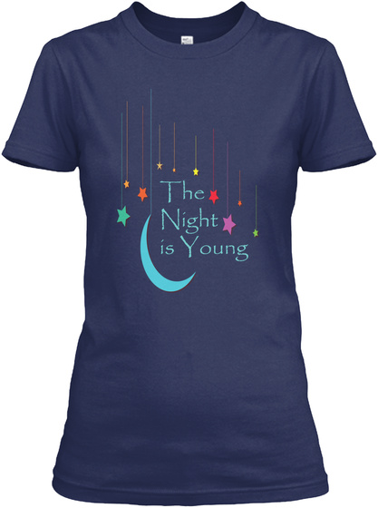 The Night Is Young Tee Navy Women's T-Shirt Front
