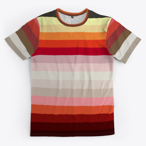 Classy Colorful Art Stripes Standard T-Shirt Front