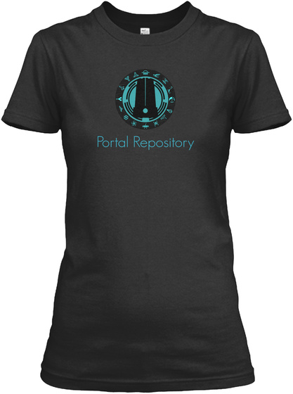 Portal Repository Black Women's T-Shirt Front