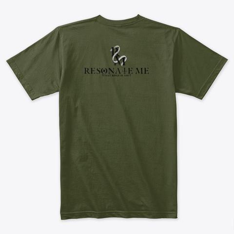 Spirit Animal   The Wolf Military Green T-Shirt Back