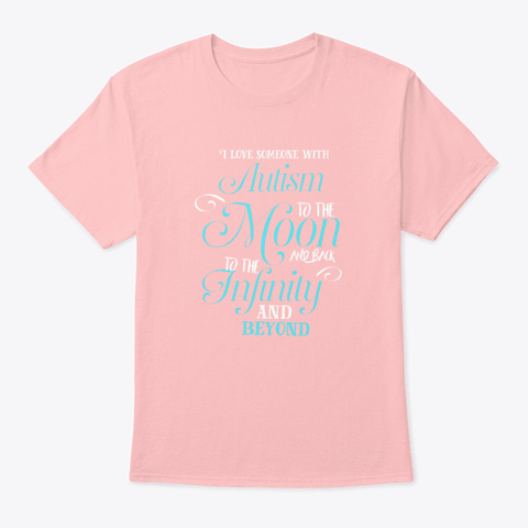 Autism Shirts Autism Awareness Ribbon T Pale Pink T-Shirt Front