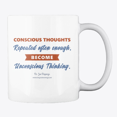 Conscious Thoughts White T-Shirt Back