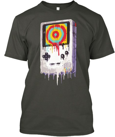 Game Boy , My  Favorite Childhood Gadget Smoke Gray T-Shirt Front