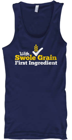 With Swole Grain First Ingredient Navy Tank Top Front