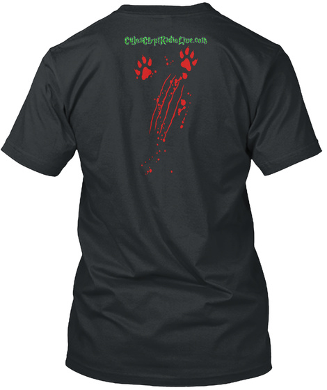 Cujo's Crypt Radio Live Cujo Edition Black T-Shirt Back