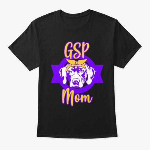 3 Gsp German Shorthaired Pointer Dog Black T-Shirt Front