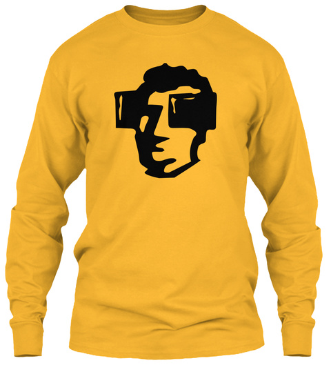 Horseblinders Long Sleeve Tee Gold Long Sleeve T-Shirt Front