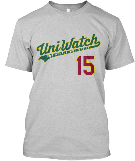 Uniwatch For People Who Get It 15 Light Steel T-Shirt Front