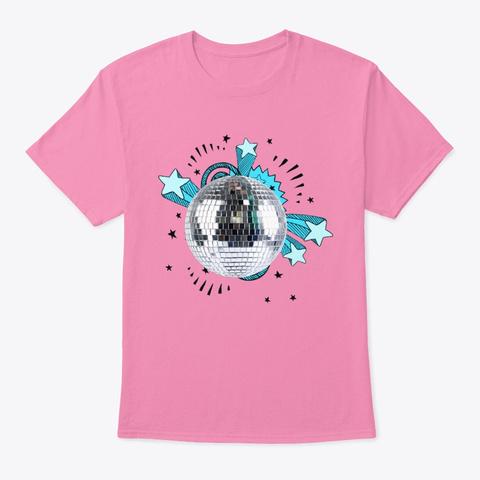 Stars Retro 80s Pink T-Shirt Front