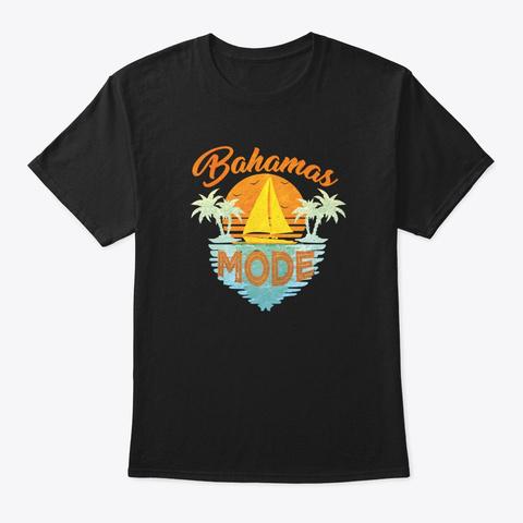 Vaporwave Synthwave Retro Summer Beach Black T-Shirt Front
