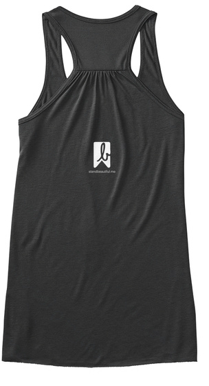 Stand Beautiful 2017 Dark Grey Heather Women's Tank Top Back