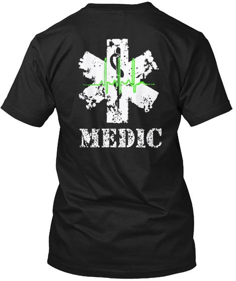 Medic Black T-Shirt Back
