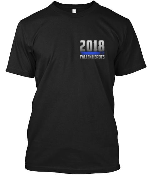 2018 Fallen Heroes Black T-Shirt Front