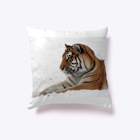 Winter Tiger Pillow Standard T-Shirt Front
