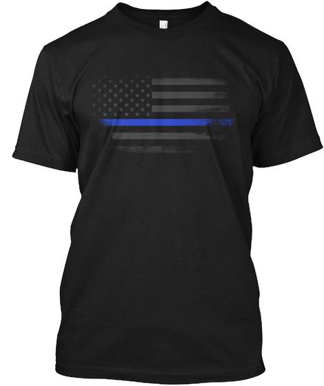 Onyx Thin Blue Line Flag Black T-Shirt Front