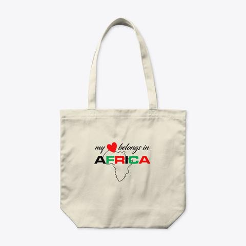 My Heart Belongs In Africa  Natural T-Shirt Front