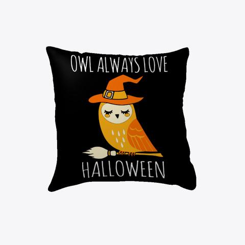 Halloween Owl Pillow Black T-Shirt Front