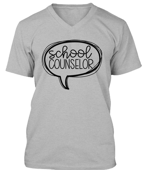 School Counselor Athletic Heather T-Shirt Front