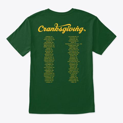 Cranksgiving 2018 Deep Forest T-Shirt Back
