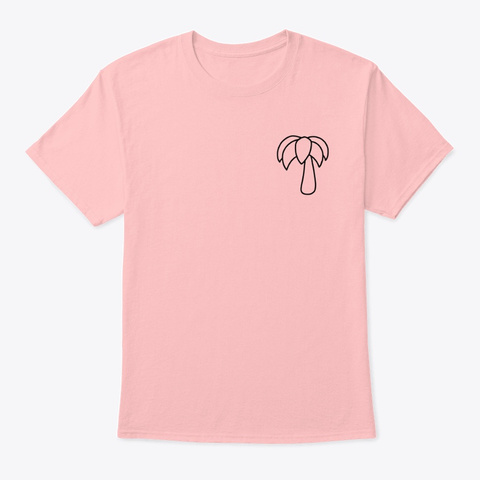 Palm Tree Outline Pale Pink T-Shirt Front