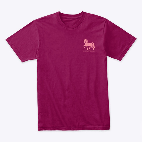 Valentine's Day   Horses Cardinal T-Shirt Front