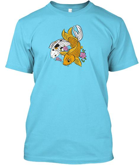 Phoenix Koi On The Fly Tahiti Blue T-Shirt Front