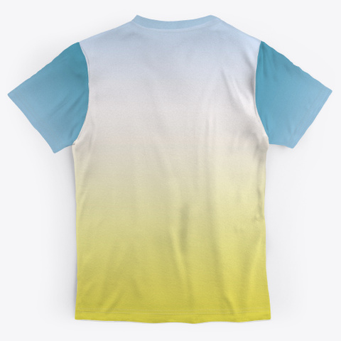 Aba Abstract Color Gradient Minimal Art Standard T-Shirt Back