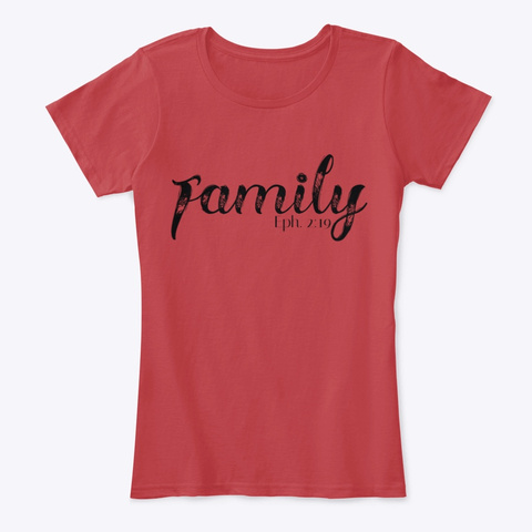 I Am Family Classic Red T-Shirt Front