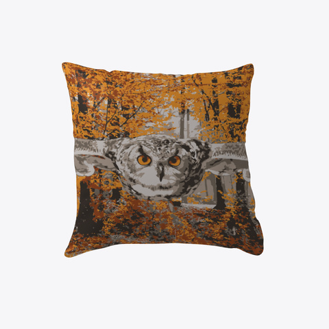 Fall Owl Pillow White T-Shirt Front