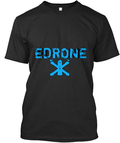 Edrone Black T-Shirt Front
