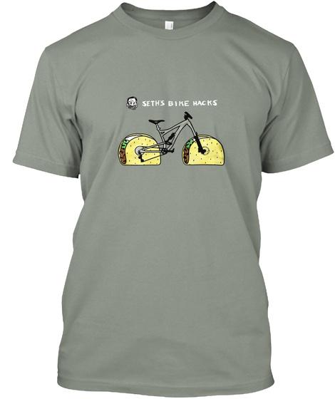 Seths Bike Hacks Grey T-Shirt Front
