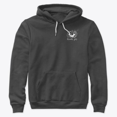 Spooky Gay (White Design) Dark Grey Heather T-Shirt Front