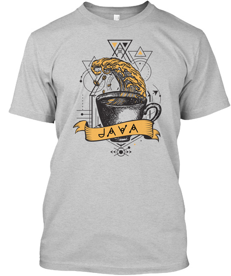 Java Programming Print (Us) Light Steel T-Shirt Front