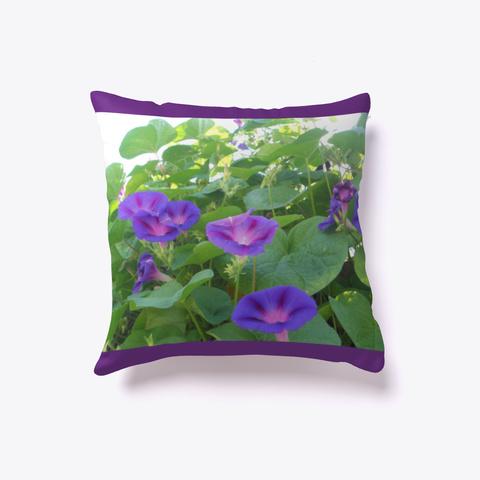 Glorious Purple Morning Glories  Purple T-Shirt Front