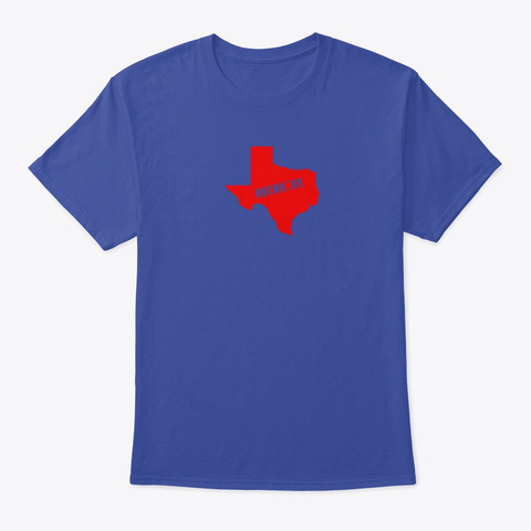 Hecho En Texas Deep Royal T-Shirt Front