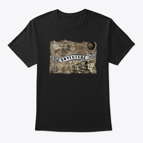 Adventure Black T-Shirt Front