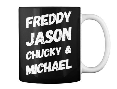 Serial Killer Halloween Mug Black T-Shirt Back