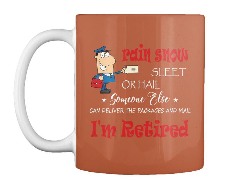 miniature 67 - Funny Retired Postal Worker Mailman Tee - Rain Suck Sleet Or Gift Coffee Mug
