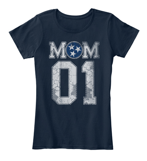 Tennessee Mom #1 Shirt New Navy T-Shirt Front